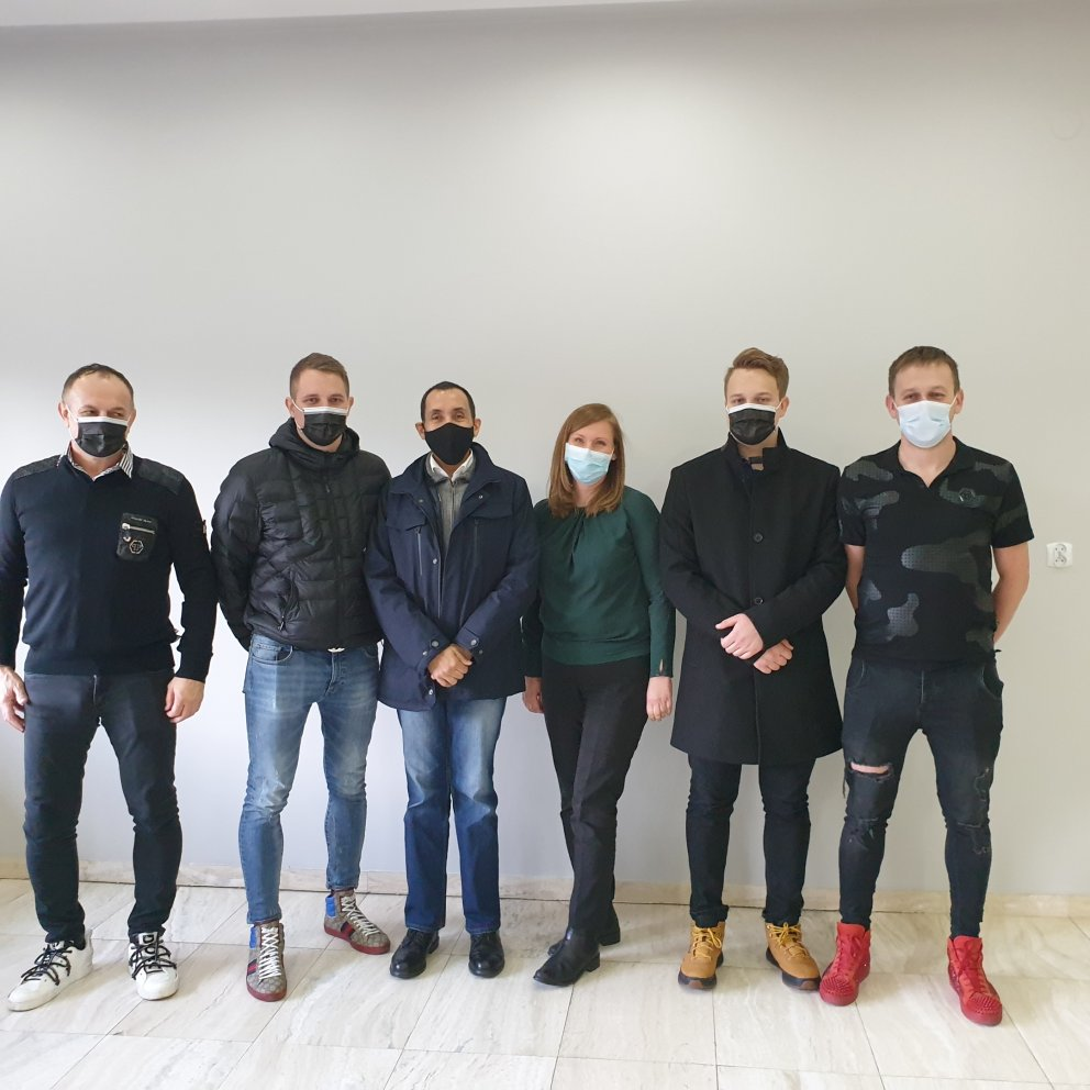 Lyreco QSS director with masks supplier Adriano Damiani