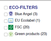 very small ecofilter webshop